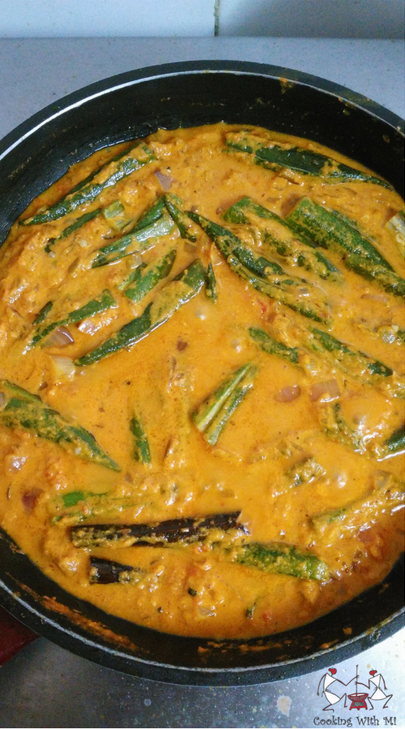 Bhindi ka saalan Okra in gravy Cooking With Mi Vidya Sury (2)