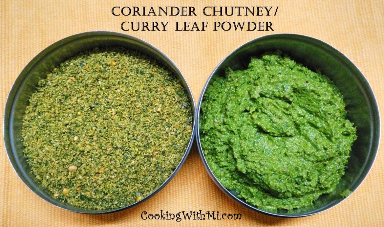Coriander Chutney #greens #fiber #vitamins #minerals #sidedish